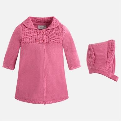 Mondo Bimbo Shop  scopri Cappotto in tricot con cuffietta 733889f837bb