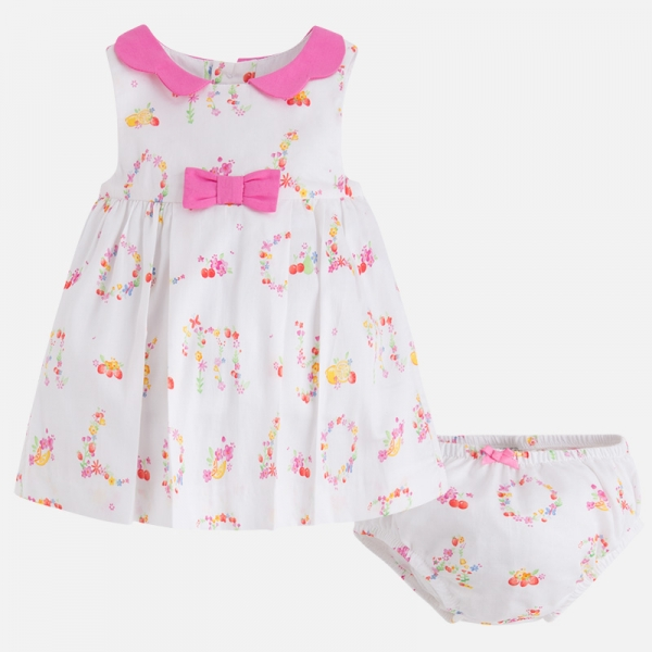 Vestito bambina in satin stampato - Mayoral