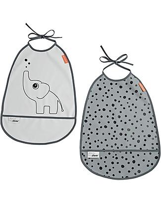 Set due bavaglini impermeabili con tasca Done by Deer - Foto 1