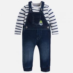 Pagliaccetto bambino con salopette modello jeans collezione 2017/18
