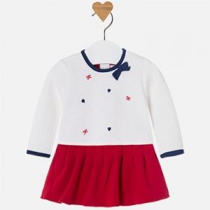 Vestito bambina manica lunga con maglioncino e gonna invernale collezione 2017/18