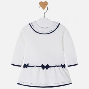 Vestito bambina manica lunga punto sandwich invernale collezione 2017/18