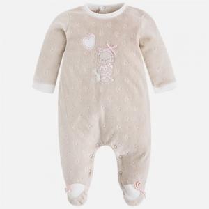 Pigiama neonata in ciniglia jacquard invernale collezione 2017/18