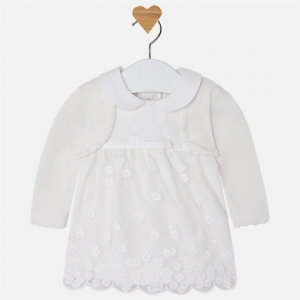 Vestito bambina manica lunga con cardigan invernale collezione 2017/18