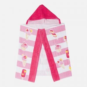 Asciugamano stampato con cappuccio neonato/a