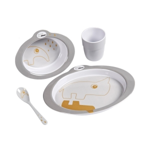 Dinner set Contour grey/gold Done by Deer