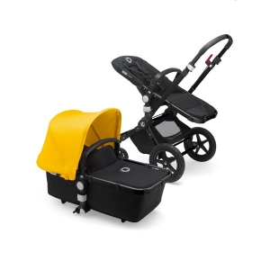 Passeggino duo Fox base nero/nero cappottina Sunrise Yellow Bugaboo