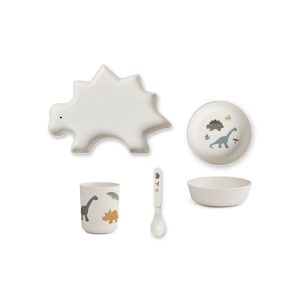 Set pappa in bamboo Dino Mix Liewood