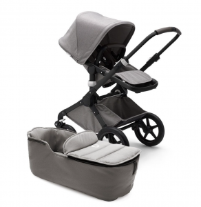 Passeggino duo Fox base nero/Mineral collection Light Grey Bugaboo
